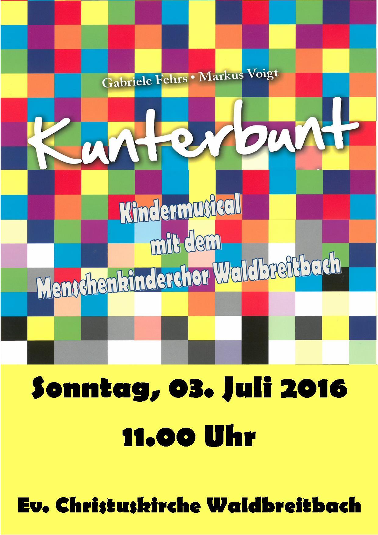 Musical Kunterbund Plakat